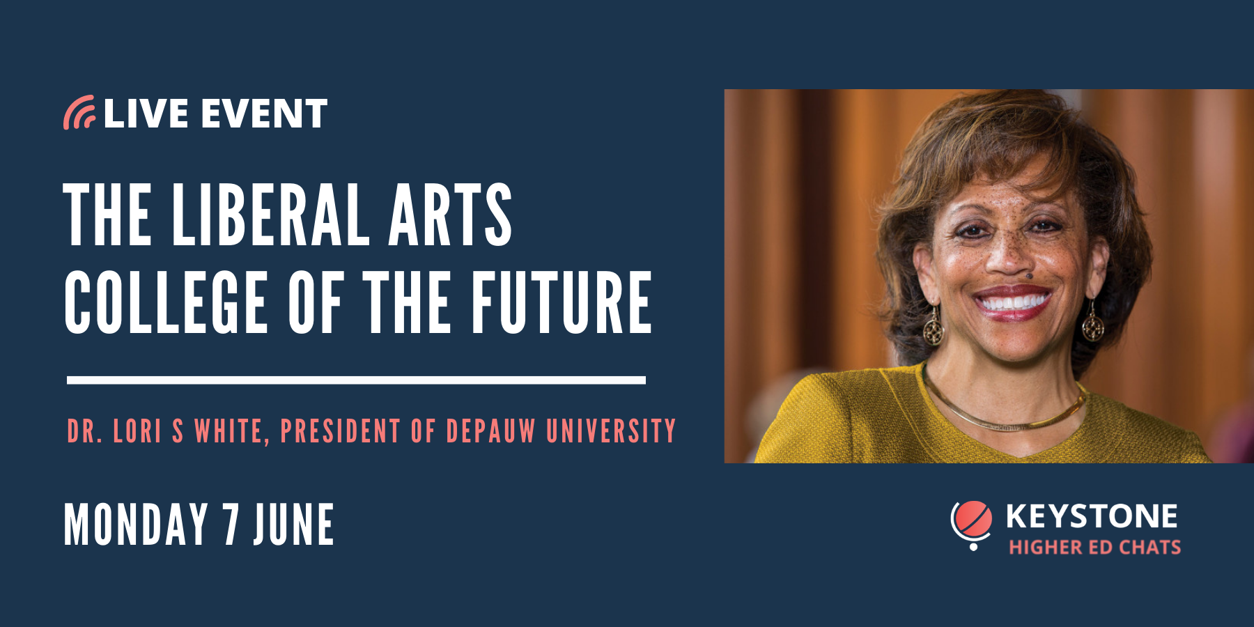 Higher Ed Chats with Dr Lori S. White from DePauw University